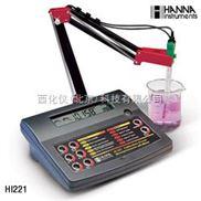 台式实验室酸度计/ORP/温度测定仪 型号:HANNA HI 221C