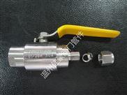 精品正宗304SS QGQY1-64P G1/2-10MM气源球阀 气动管路内牙球阀