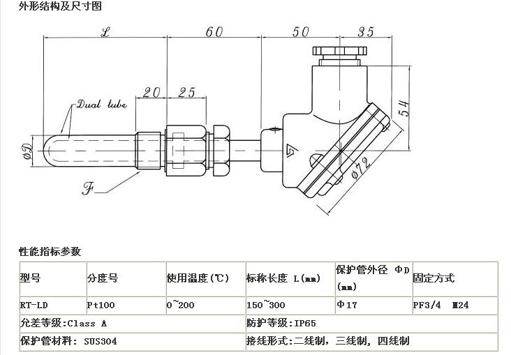 PT100温度传感器的原理和接线方式是怎么样的图片